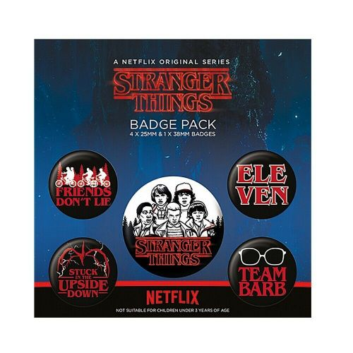 Stranger Things Characters Button Badge Pack